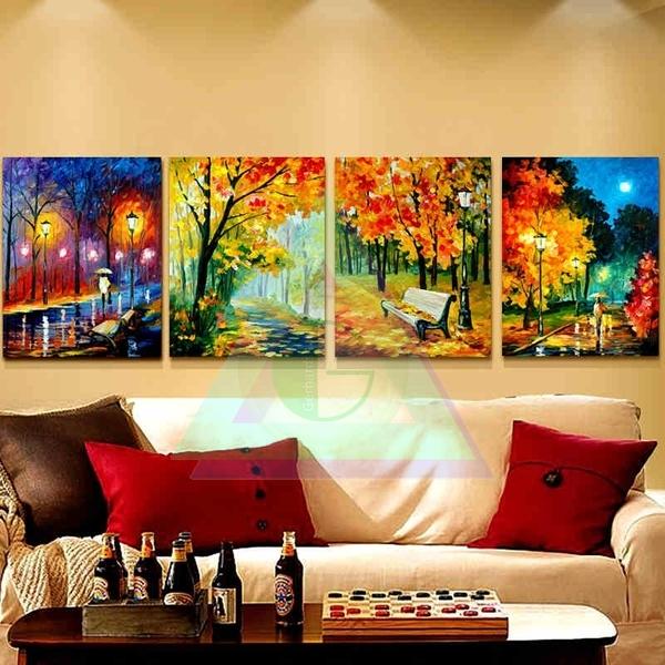 Jese sada 4 obrazov perky a dekor cie - Pinturas para el hogar ...